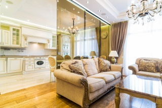 author's design 3-room apartment to let elite residential complex New History St-Petersburg