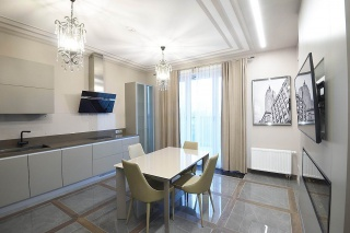 stylish 3-room apartment for lease in the elite RC Privilegia St-Petersburg